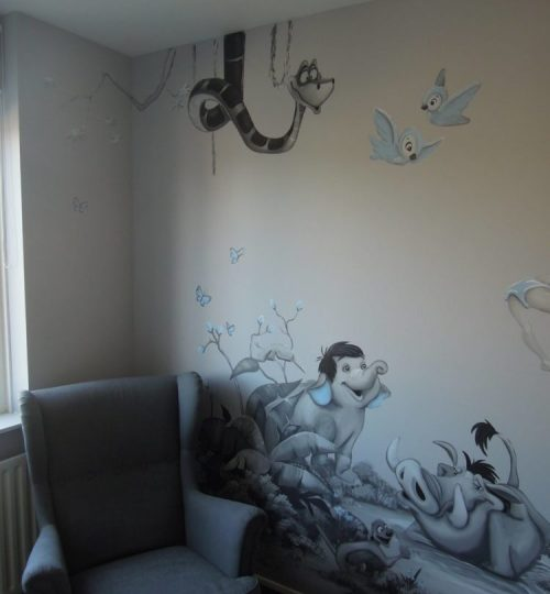 Muurschildering door Lysette Greeve