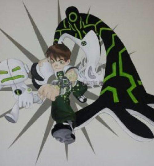 Muurschildering Ben10 animatie